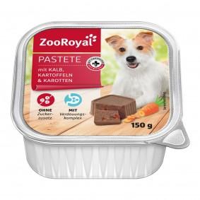 ZooRoyal Hundefutter Pastete mit Kalb, Kartoffel & Karotten