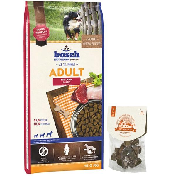 Bosch Adult Lamm&Reis 15kg + 80g Bosch Snack GRATIS