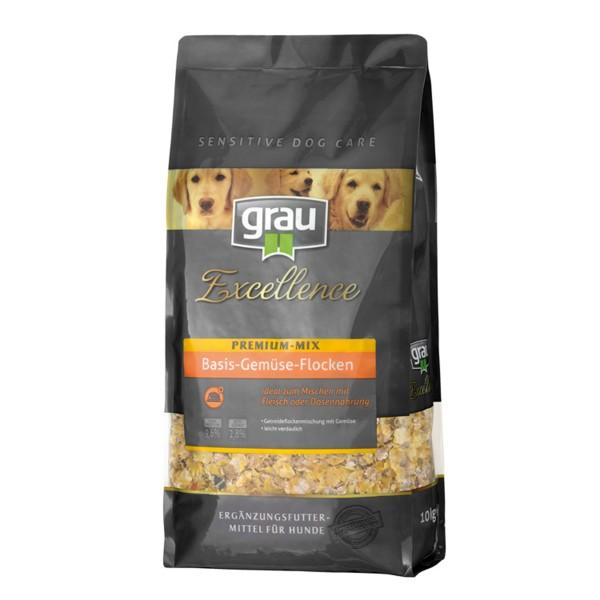 Grau Excellence Hunde-Trockenfutter Premium-Mix Basis-Gemüse-Flocken