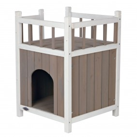 Trixie Natura domek pro kočky Cat's Home sbalkonem