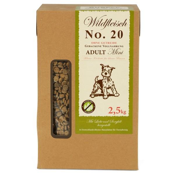 Bubeck Hunde-Trockenfutter No.20 Mini Wild 2,5kg