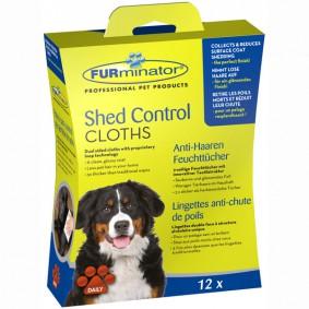 FURminator Shed Control Anti-Haaren Feuchttücher Hund