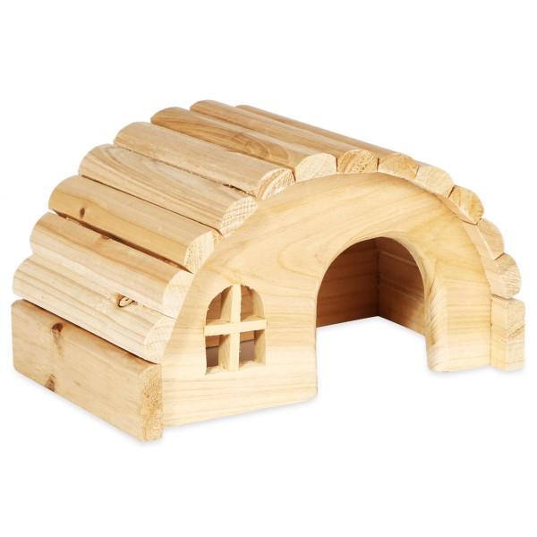 Trixie Rundes Holzhaus für Mäuse und Hamster 61271