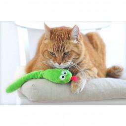 Aumüller Schlange Snakey Katzenspielkissen mit Baldrianwurzel und Dinkelspelz