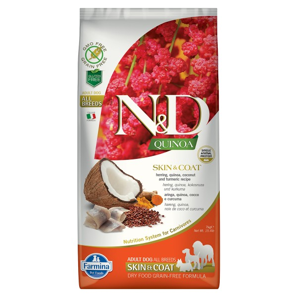 N&D Dog Quinoa Skin & Coat Herring