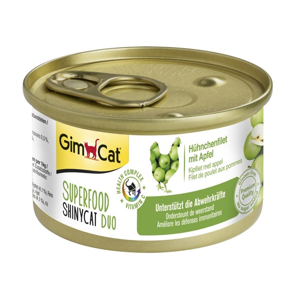 GimCat Superfood ShinyCat Duo Hühnchenfilet mit Äpfeln