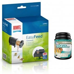 Juwel EasyFeed + Dennerle krmivo pro ryby Diskus Soft, 1000 ml