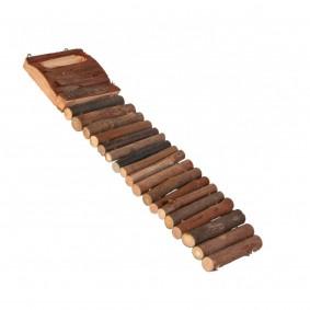 Trixie Leiter aus Naturholz mit 18 Sprossen