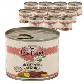 Landfleisch Dog Pur Rinderherz & Nudeln