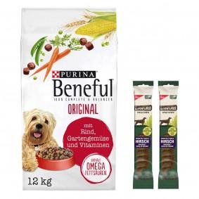 Beneful Original 12kg + 2 x Wild Chew für große Hunde