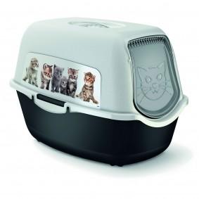 Rotho MyPet Katzentoilette mit Katzenmotiven