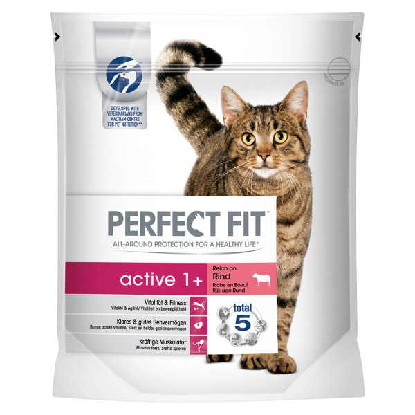 Perfect Fit Katzenfutter Active 1+ reich an Rin...