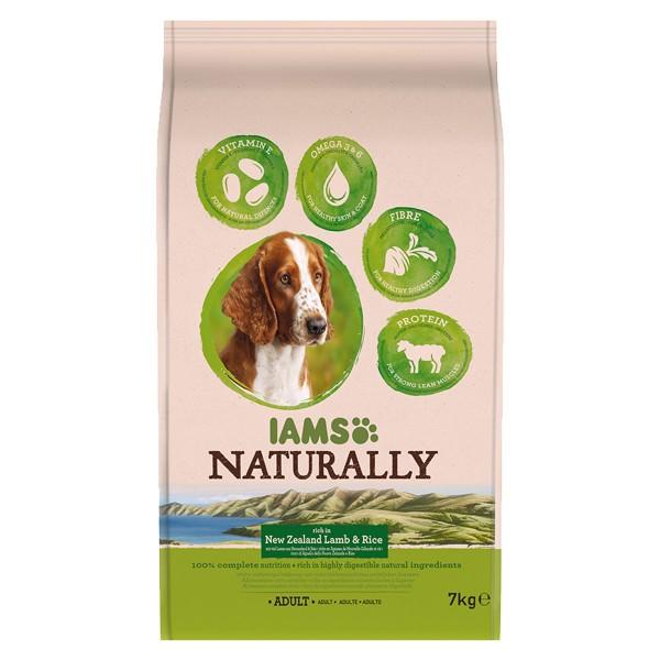 IAMS Naturally Hund Trockenfutter Adult Lamm & Reis
