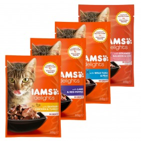 Schwarzheide Angebote Procter & Gamble Iams Delights Multipack Land Sea Collection in Sauce - 24x85g