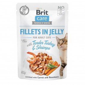 Brit Care Cat Fillets in Jelly Turkey & Shrimps