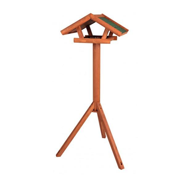 Trixie Natura Futterhaus mit Ständer 115 cm braun