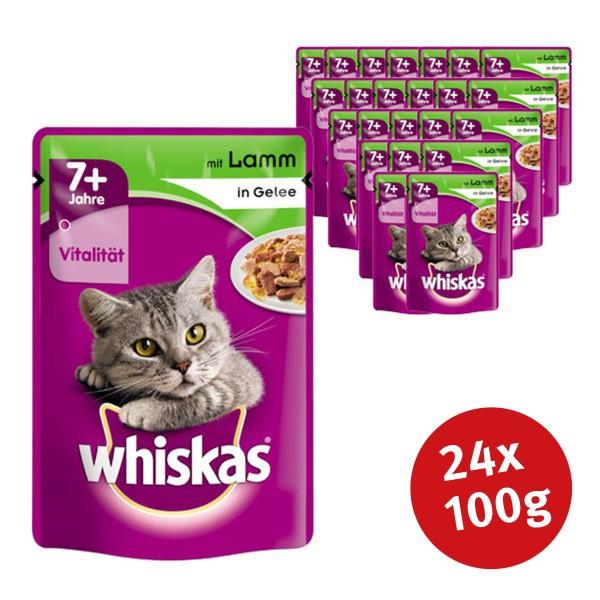 Whiskas Katzenfutter 7+ mit Lamm in Gelee 24 x 100g