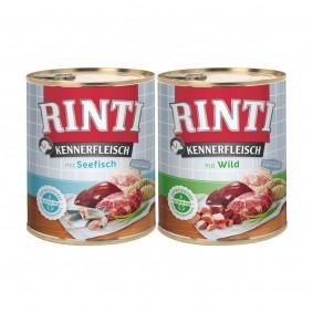 Rinti Kennerfleisch 24x800g Seefisch und Wild Mixpaket
