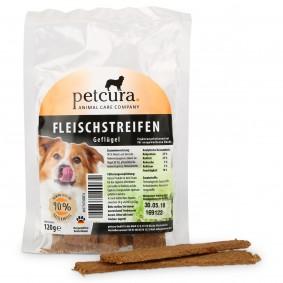 petcura Hundesnack Fleischstreifen 120g - Geflügel