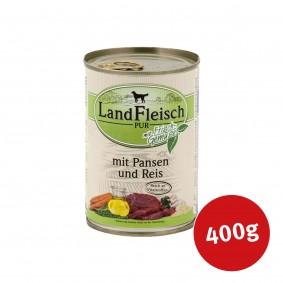 Landfleisch Hundefutter Dog Pur Pansen & Reis