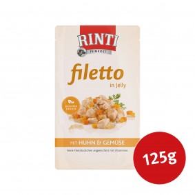 Rinti Hunde-Nassfutter Filetto in Jelly Huhn und Gemüse