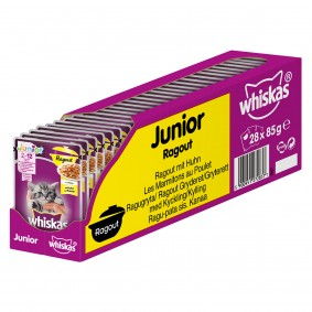 Whiskas Ragout Junior mit Huhn in Gelee