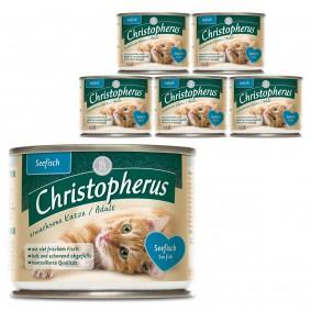 Christopherus Fleischmahlzeiten Katzenfutter Seefisch 6x200g