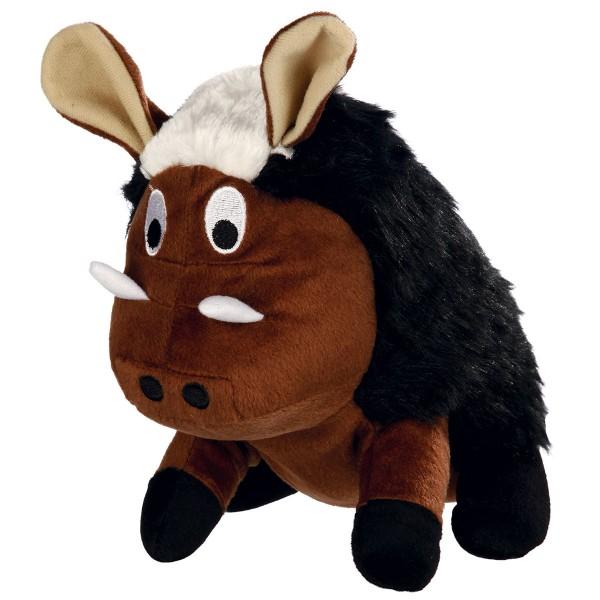 Trixie Wildschwein Plüsch-Spielzeug mit Original-Tierstimme Größe 25cm