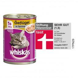 Whiskas Katzenfutter 1+ mit Geflügel in Terrine