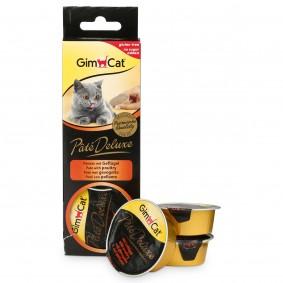 GimCat Katzensnack Pâté Deluxe mit Geflügel 3x21g