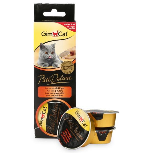 GimCat Pâté Deluxe mit Geflügel 3x21g
