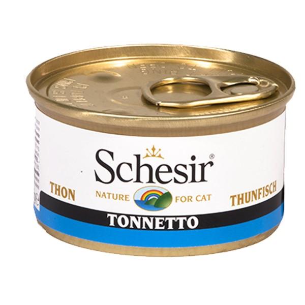 Schesir Katzenfutter Thunfisch in Gelee 85g-Dosen