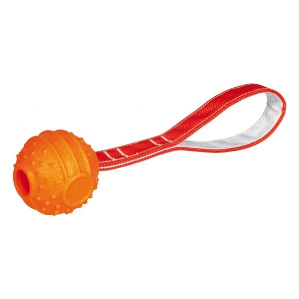 Trixie Soft & Strong Ball am Gurt orange