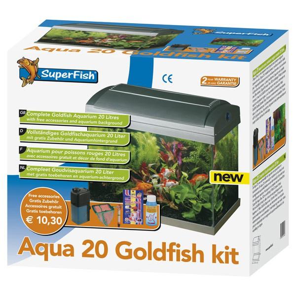SuperFish Aqua 20 Goldfish Kit