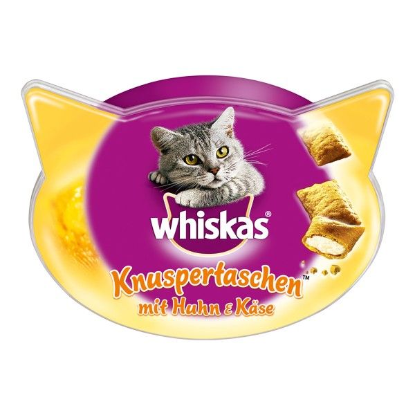 Whiskas Knuspertaschen mit Huhn & Käse