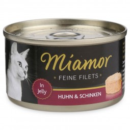 Miamor Feine Filets in Jelly Huhn und Schinken 100g Dose