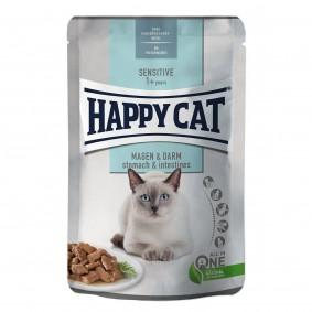 Happy Cat Sensitive Meat in Sauce Magen & Darm Pouch