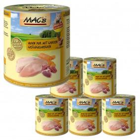 MAC's Cat Huhn Pur mit ganzen Geflügelherzen 6x800 g