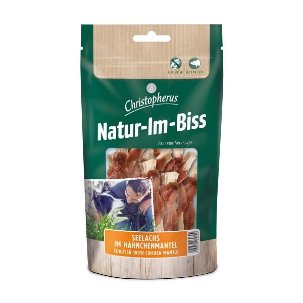 Christopherus Hundesnack Natur-Im-Biss Seelachs im Hähnchenmantel 70g