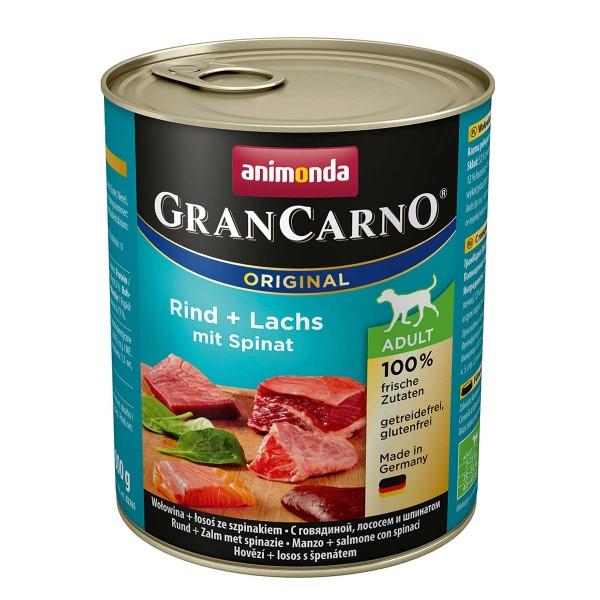 Animonda GranCarno Adult hovězí a losos se špenátem