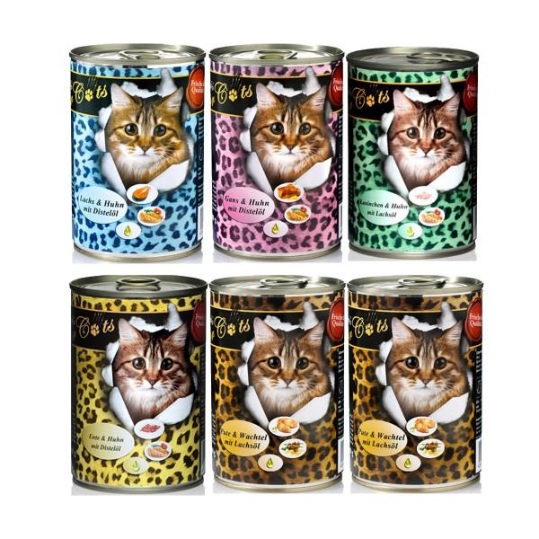 O'Canis Katzenfutter Topseller Mixpaket 6x200g