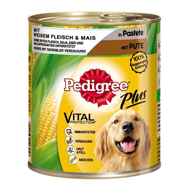Pedigree Plus Pastete mit weißem Fleisch & Mais