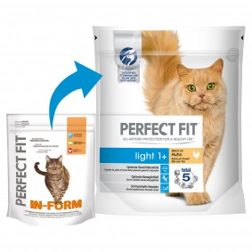 Perfect Fit Katzenfutter Light 1+ reich an Huhn 750g