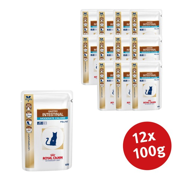 Royal Canin Vet Diet Nassfutter Gastro Intestinal Moderate Calorie - 12x100g - broschei