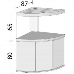Juwel Komplett Aquarium Trigon 350 LED mit Unterschrank SBX weiß