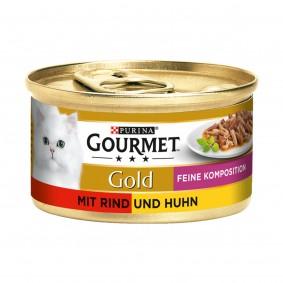 Gourmet Gold Feine Komposition Rind und Huhn