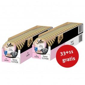 Sheba Katzenfutter Sauce Lover Lachs (MSC) 44x85g