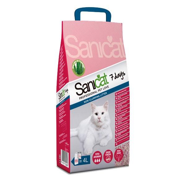 Sanicat Katzenstreu 7 days Aloe Vera