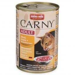 Animonda Katzen Nassfutter Carny Adult Rind, Huhn und Entenherzen