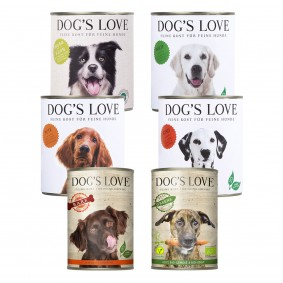 Dog's Love Mixpaket zum Sparpreis 6x400g